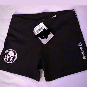 Reebok Spartan black spandex shorts